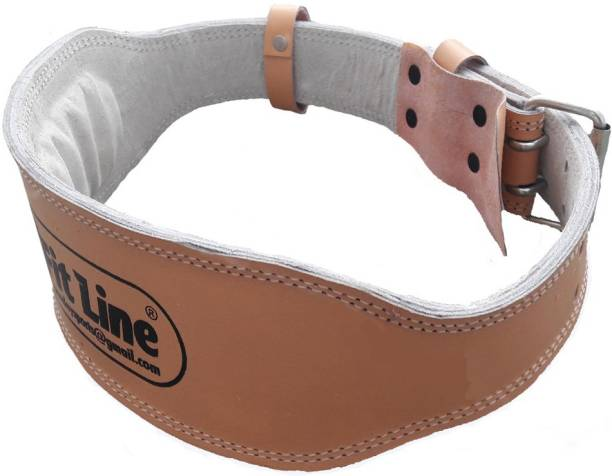 StepInnStore Tough Leather Weight Lifting Padded Belt for Back Support Waist Support (Free Size,