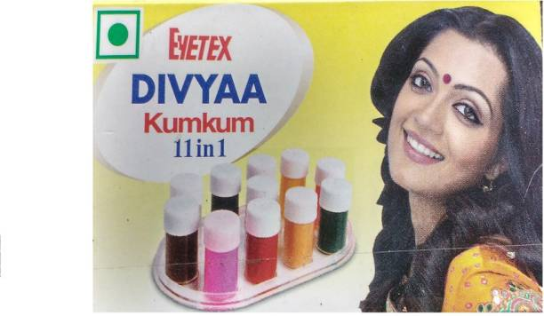 Eyetex Divya kumkum 11 in 1 Woman and children Multicolor Bindis