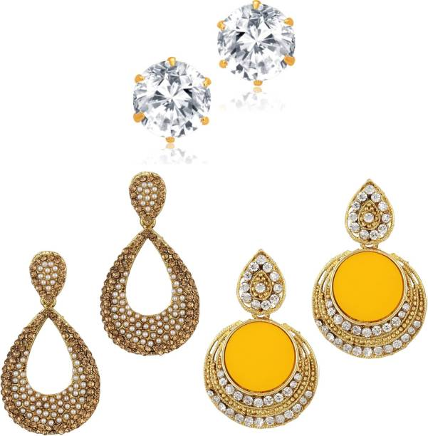 3450d2bc57ff95 Yellow Earrings - Buy Yellow Earrings Online at Best Prices In India ...
