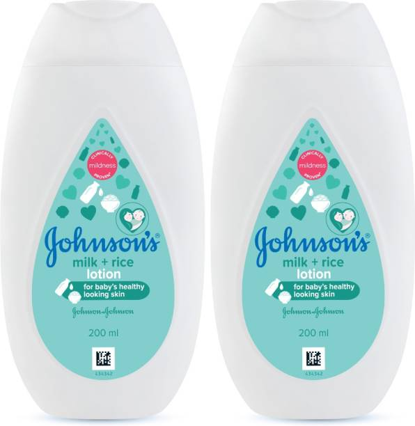 JOHNSON'S New Milk and Rice Lotion 200 ml (Pack of 2)