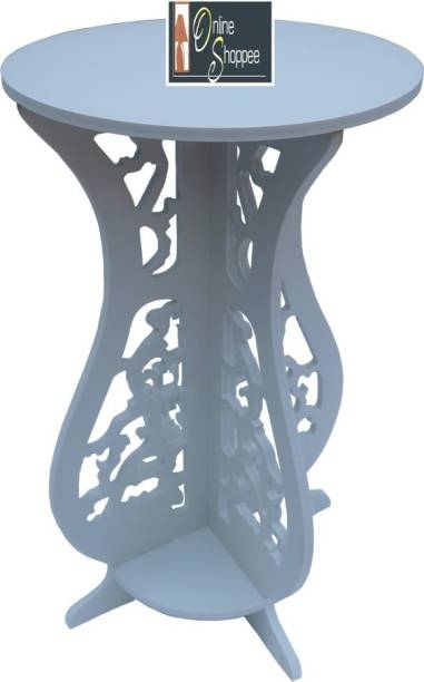 Onlineshoppee Round Engineered Wood End Table