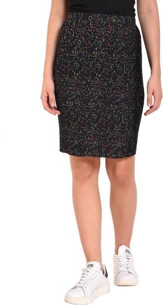 cbdeec1c4 Price -- High to Low. Newest First. MansiCollections Geometric Print Women  Pencil Black Skirt