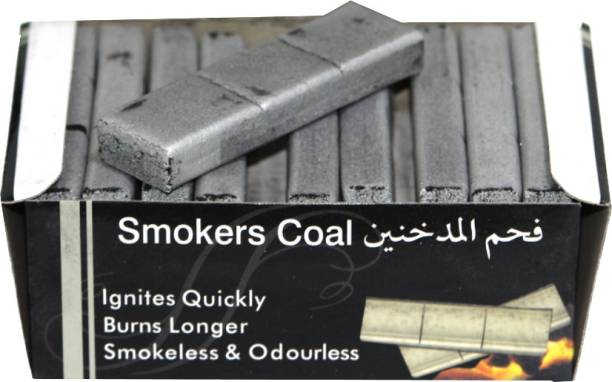 SEGGO Smoker Coal 30 Brick Hookah Charcoal Odorless and Smoke Free Hookah Charcoals