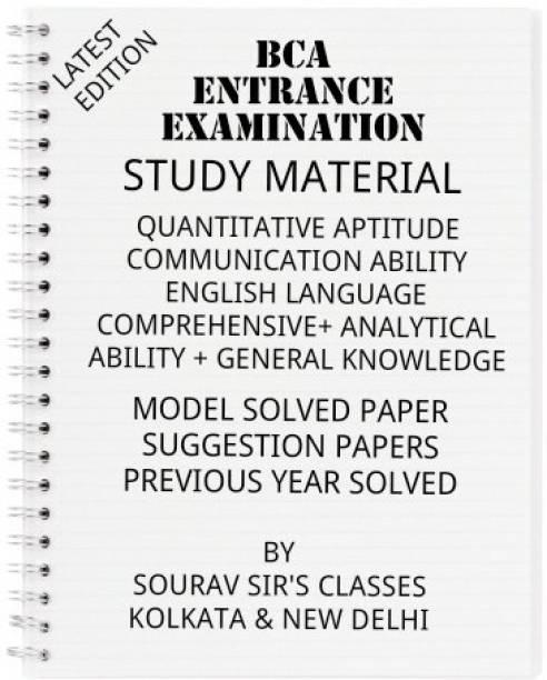 Study Material On Bca Entrance Examination