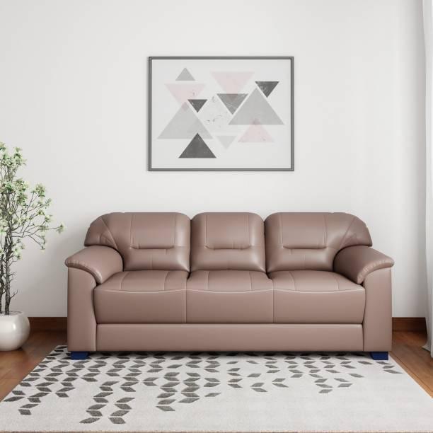 Muebles Casa Croma Leatherette 3 Seater Sofa