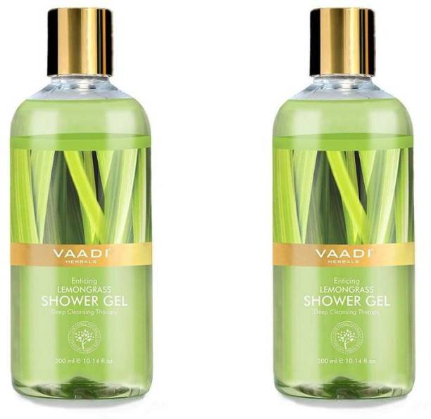 VAADI HERBALS Refreshing Lemon & Basil Shower Gel (300 ml x 2)