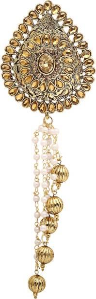 36ab5f32b Sanjog Enchanted Golden platted and Copper Color Stone Wedding Brooch For  Groom/Men… Brooch