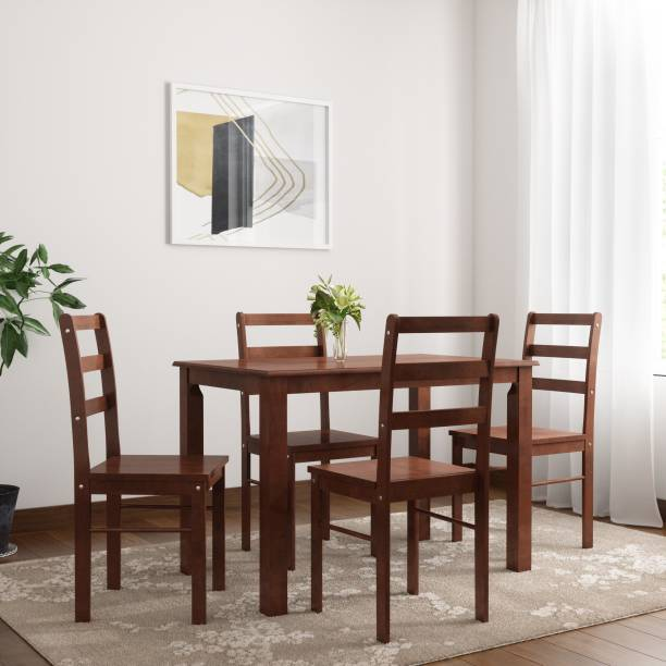 WOODNESS Winston Solid Wood 4 Seater Dining Set