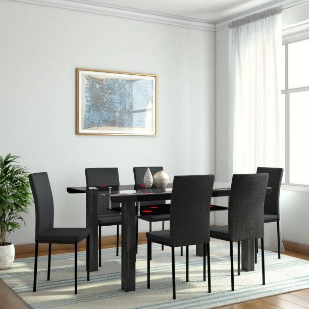Woodness Milan Gl 6 Seater Dining Set