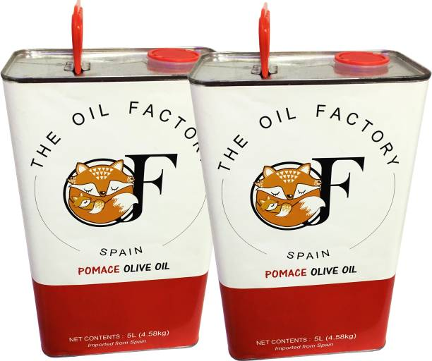 The Oil Factory Pomace Pack Of 2 Olive Oil Tin