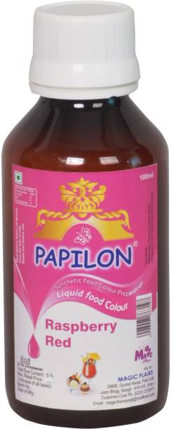 PAPILON CONCENTRATED FOOD COLOUR RASPBERRY RED 100ML Red