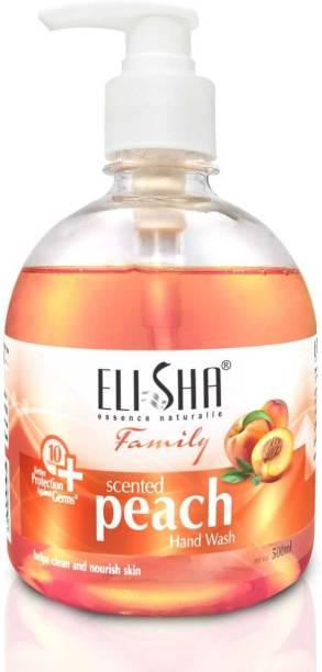 ELISHA SCENTED PEACH HAND WASH ( FAMILY PACK ) Hand Wash Pump Dispenser