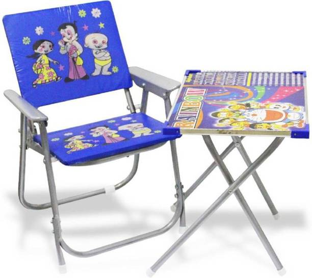 imtion Kids Chair And Table Color Blue Use Multi Purpose Kids For 2 + 5 Years Only Solid wood Desk Chair