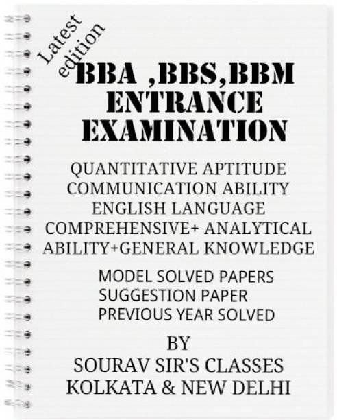 Study Material For Bba,bbs,bbm Entrance Examination