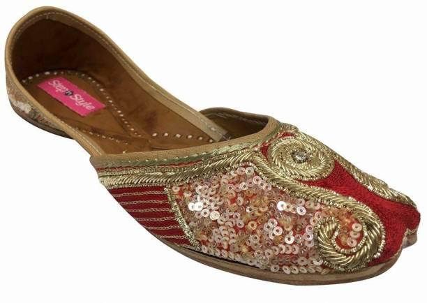 7672c28c5b96 Step N Style Women Bridal Ballet Ballerina Flat Juttis Loafers Shoes  Handmade Shoes Jutis For Women