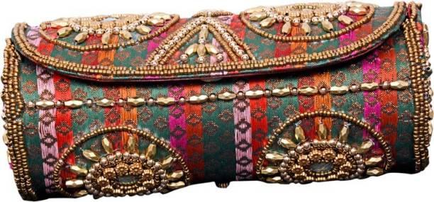 Craft Trade Handmade Multicolor Kundan Bangle Box (8 CM X Length 20 CM) Ladies Kit Vanity Box