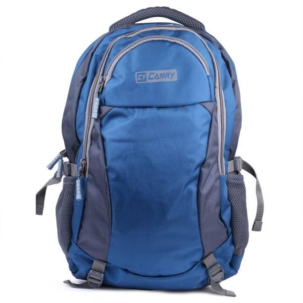 b5a223927376 QT Sizzling Blue   Grey Bag Waterproof School Bag