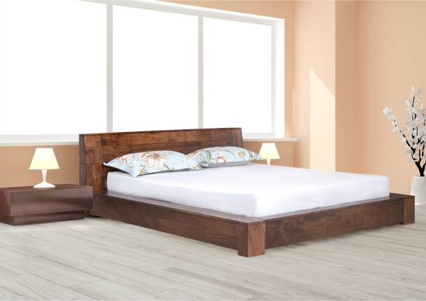@Home by nilkamal AMELIA Solid Wood Queen Bed