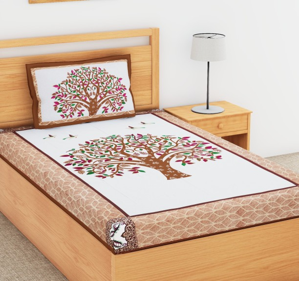 Flipkart SmartBuy 104 TC Cotton Single Printed Bedsheet