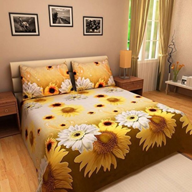 SOAK N SPA 140 TC Microfiber Double Printed Bedsheet