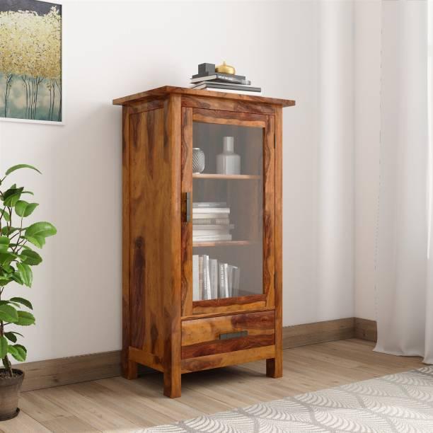 THE ATTIC Sheesham Wood Solid Wood Close Book Shelf