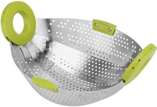 Chefstar Kitchen Colander Drain Basket Rice Pulses Fruits Vegetable Noodles Pasta Washing Bowl & Strainer Colander