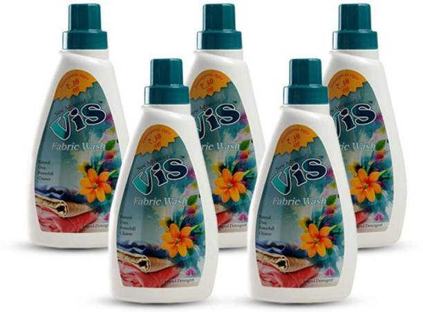 VIS Natural Fabric Wash Liquid And Laundry Cleaner Gel Pack Of 5 (500 ml)