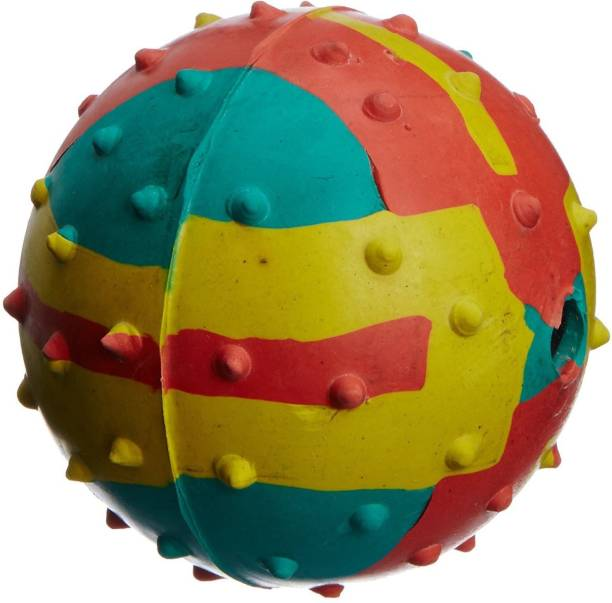 W9 Imported High Quality Pimple Bouncy Ball For Puppy (Medium) Rubber Fetch Toy For Dog