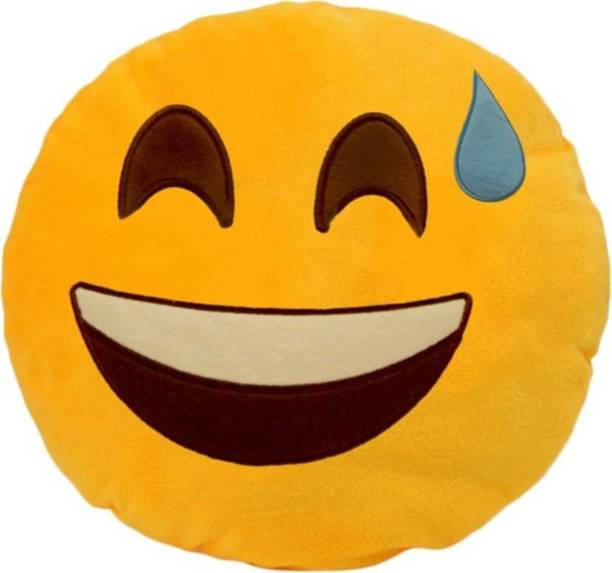 Young Man Happy Emoji Pillow Decorative Cushion Pack Of 1