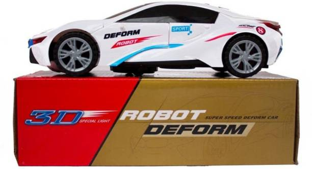 NV COLLECTION Super Speed Deformation Transformer Robot Car With 3D Special Light for kids