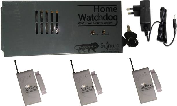starlit electronics GSM Home Security System + 3 Door Sensor Wireless Door Security System GSM Home Watchdog