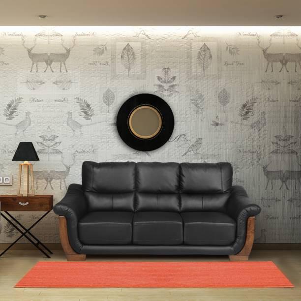 @Home by nilkamal Brooks Fabric 3 Seater  Sofa