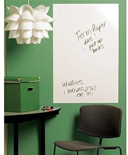 Himani Decors Large White Board Wall Sticker Removable Vinyl Decal Use Home School Office College