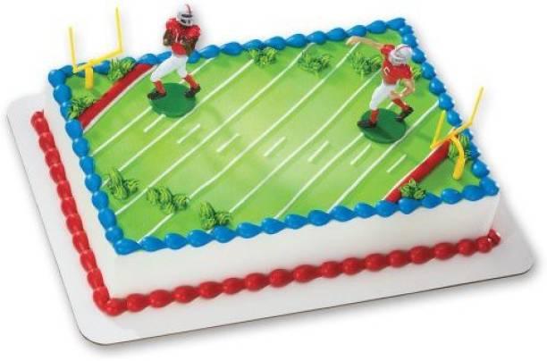 DecoPac Football Touchdown DecoSet Cake Decoration