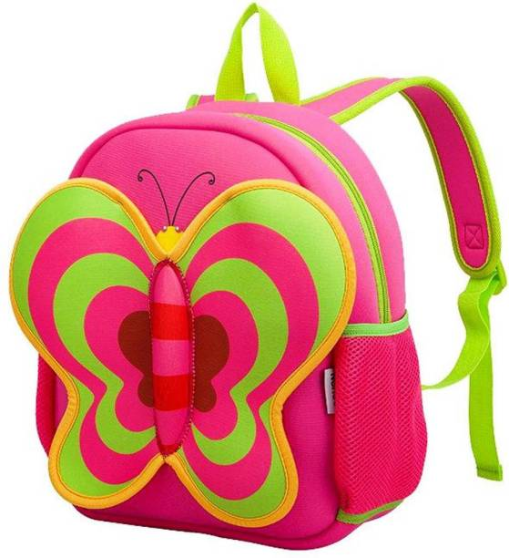 nohoo 3D Cartoon Butter fly Designed kids school Backpack for Picnic school travel  Backpack 91714eb8b36e2