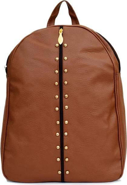 SPLICE PU Leather Backpack School Bag Student Backpack Women Travel bag 6 L  Backpack b16b3449be