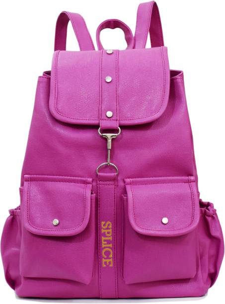 SPLICE PU Leather Backpack School Bag Student Backpack Women Travel bag 6 L  Backpack 33d412d4a8e80