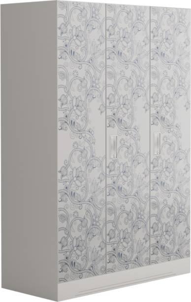 847ebbda8 Godrej Interio Slimline Fusion 3 Door With Locker Metal Almirah