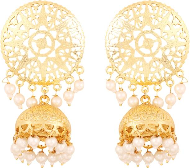 d4784afd1 Touchstone Touchstone Indian Bollywood Innovative Finely Embossed  Architectural Style Bridal Chandelier Jewelry Jhumki Earrings Hung With