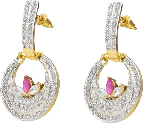 b93d77cedf8 Sitashi Sitashi Fashion Jewellery AD American Diamond Earrings for Girls  and Women Cubic Zirconia Alloy Dangle