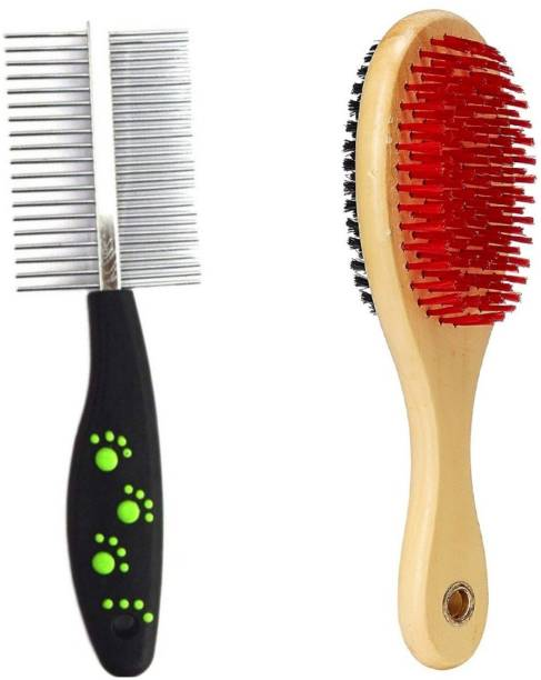 Pet Needs Combo Of 2 Imported High Quality Grooming Brushes For Dog Basic Comb for  Dog