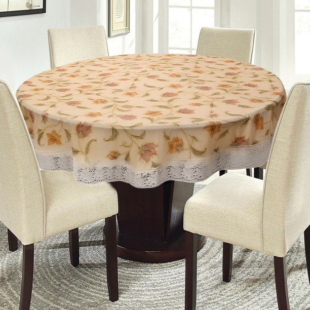 E-Retailer Floral 4 Seater Table Cover & Table Covers   Table Covers Under Rs.299 at Flipkart