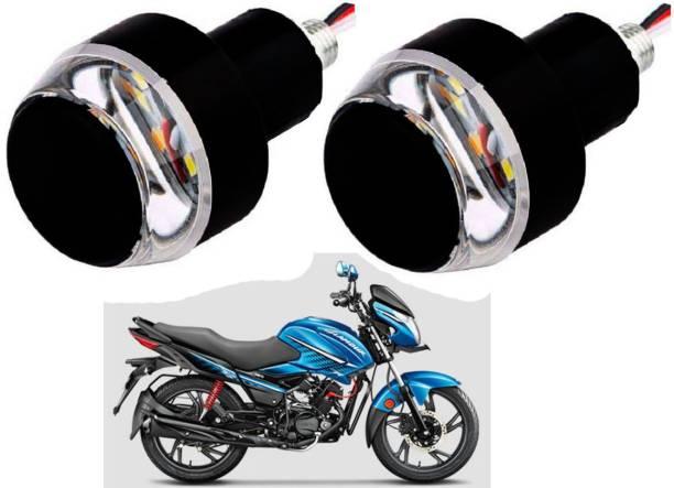 SM FASHION BLUE Motorcycle Handlebar / Turn Signal LED Light Blinker Indicator Handle Bar 40 Bike Handlebar Weights