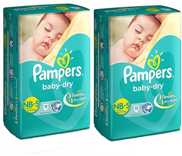 Pampers New Born S 11+11 Pant Diapers - New Born