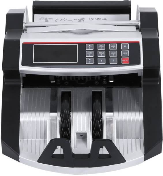 MANIA ELECTRO MULTI-Function Smooth LCD Display Money Bill Counter Counterfeit Detector UV, IR & MG (Counting Speed - 1000 notes/min) Note Counting Machine