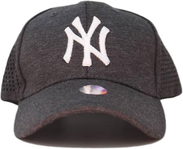 ae93b9d9c7e Friendskart Solid baseball caps for Men Boy outdoor sun hats NY letter  adjustable casual sports cap