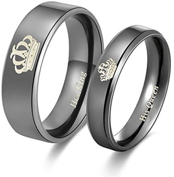 Boy and girl promise rings