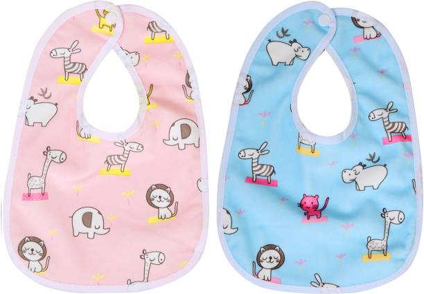 First Trend Waterproof baby bibs aprins for the babies zoo print pack of 2 149bda36e3