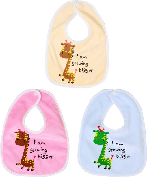 FIRST TREND Waterproof baby bibs/aprins for the babies bigger print pack of 3