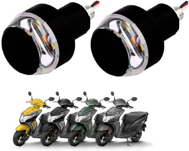 SM FASHION Yellow Motorcycle LED/ Bike Handlebar / Handle Weight Light Indicators / Bar End Turn Signal Grip 85 Bike Handlebar Weights